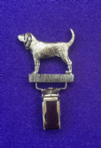 Dog Show Breed Ring Number Clip - Bloodhound - FULL BODY Silver or Gold Style